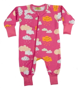 Heldress Zip/pyjamas Happy Cloud rosa